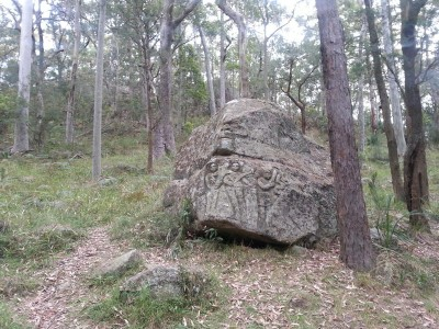 Carved Rock near the track to the summit