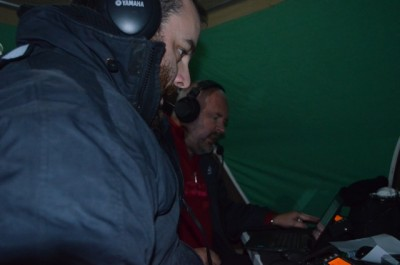 Andy (front) and Paul (back) operating the 2 stations