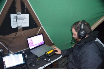 Andy Operating one of the Stations